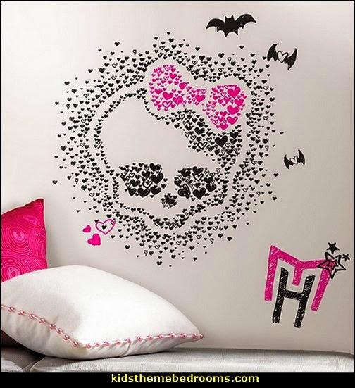 Monster High Heart Skullette Wall Decals