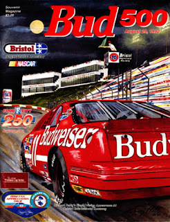 1992 Bud 500 Bristol Ford Event Car Racing Champions 1/64 NASCAR diecast blog concrete darrell waltrip