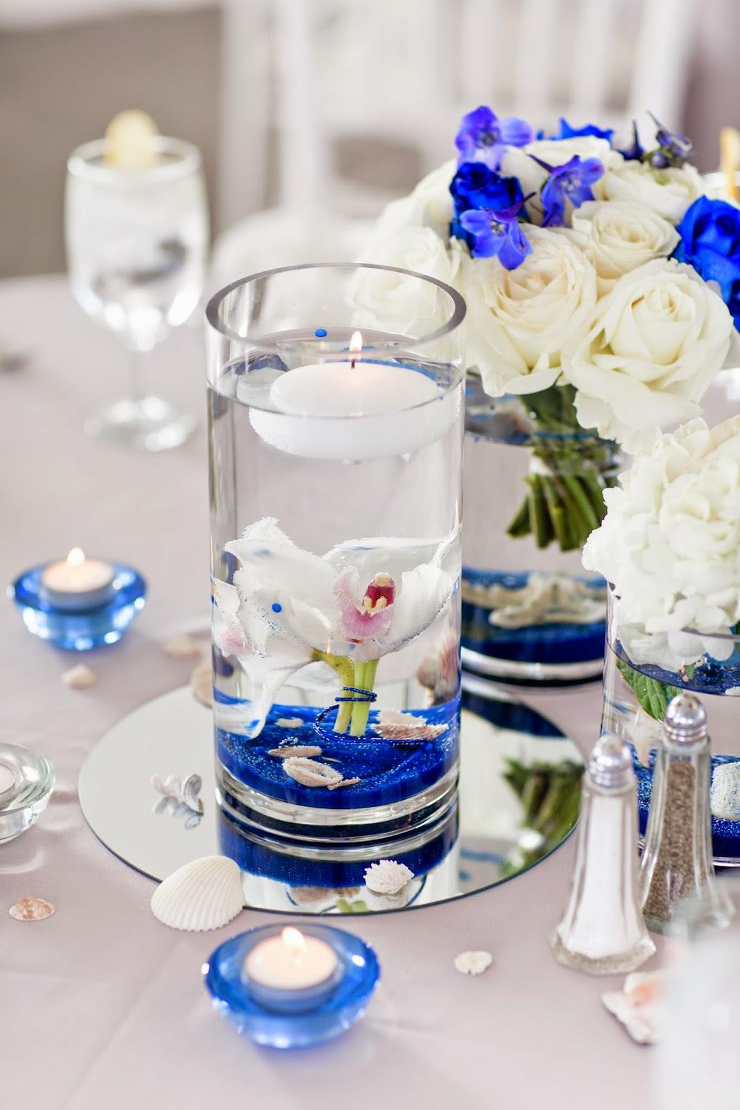 Beach+wedding+decor+centerpiece - wedding beach centerpieces