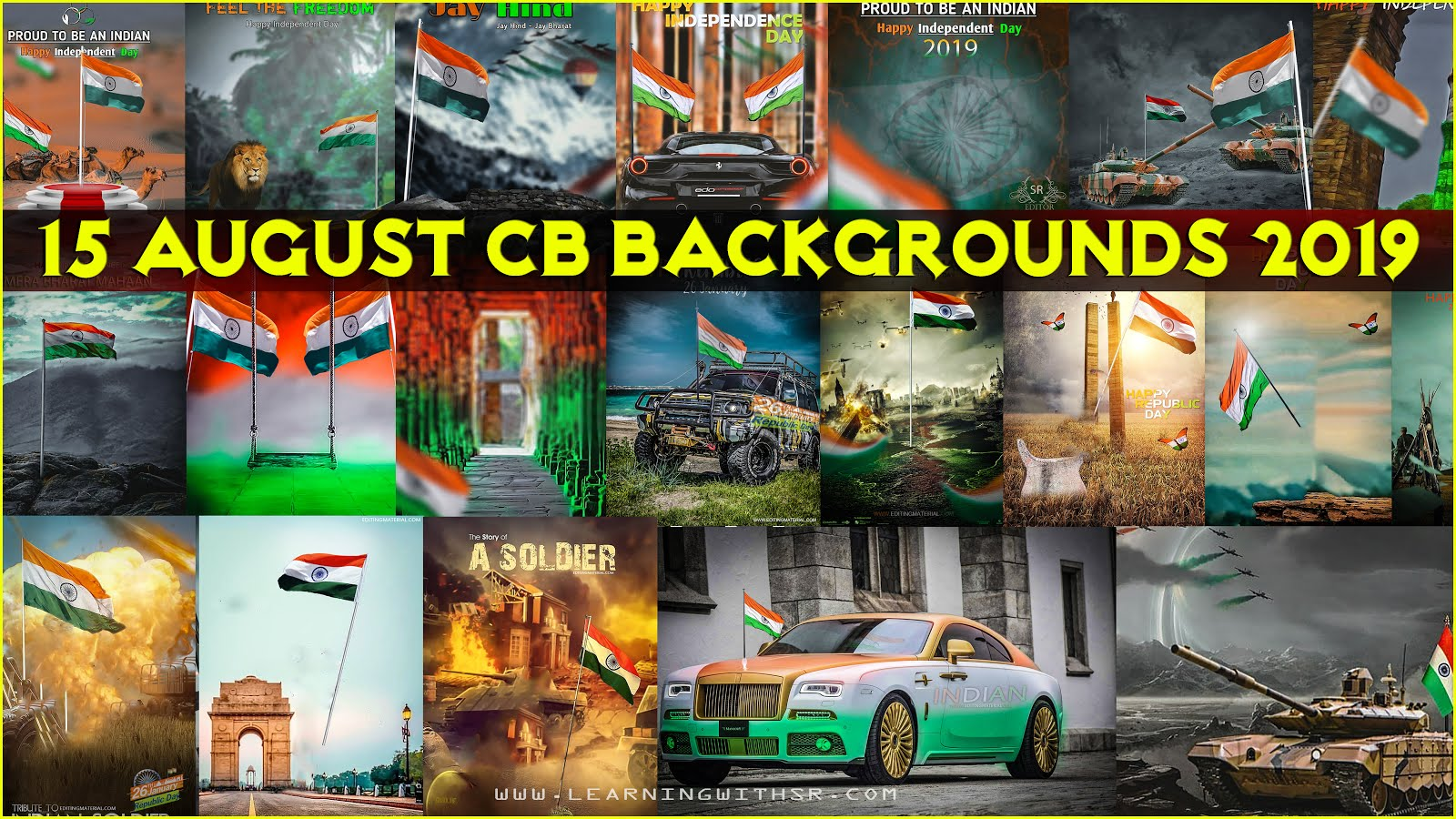 15 August 2019 cb background download, Independence day