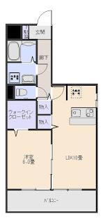 増尾駅徒歩2分 1LDK グランディール・トシコ201