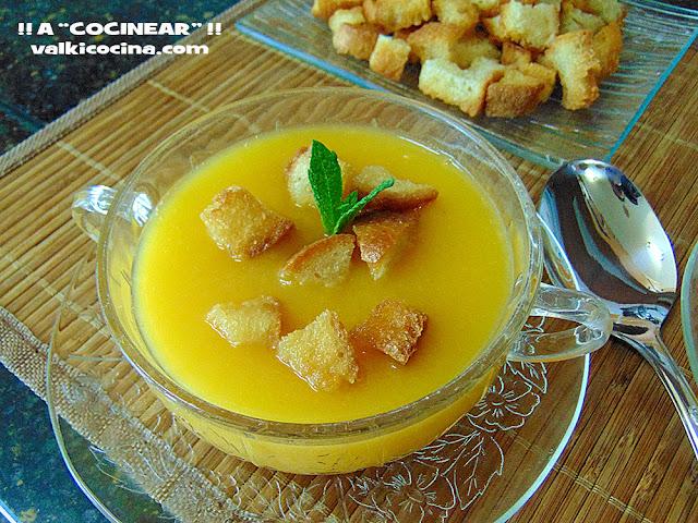 crema de calabacín con patata y zanahoria