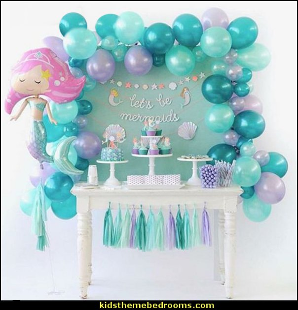 mermaid party balloons mermaid table decorations