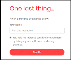 Type your Full Name and Click Sign UP