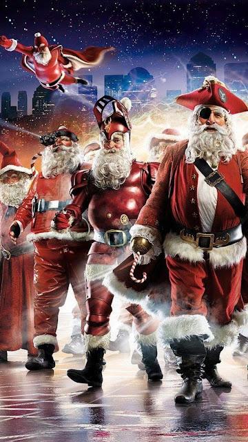super hero santa hd image wallpaper for iphone 6