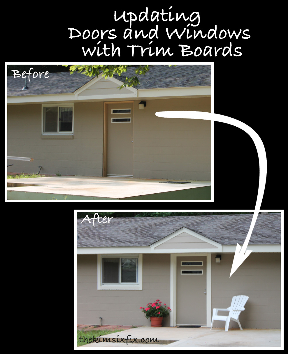 How to Use Trim to Update Exterior Doors and WIndows - The Kim Six Fix