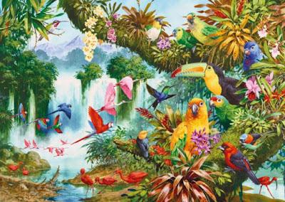 Gambar Flora dan Fauna Lukisan Indah Wallpaper HD