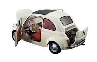 Particolare della Fiat 500 riprodotta in scala 1:20