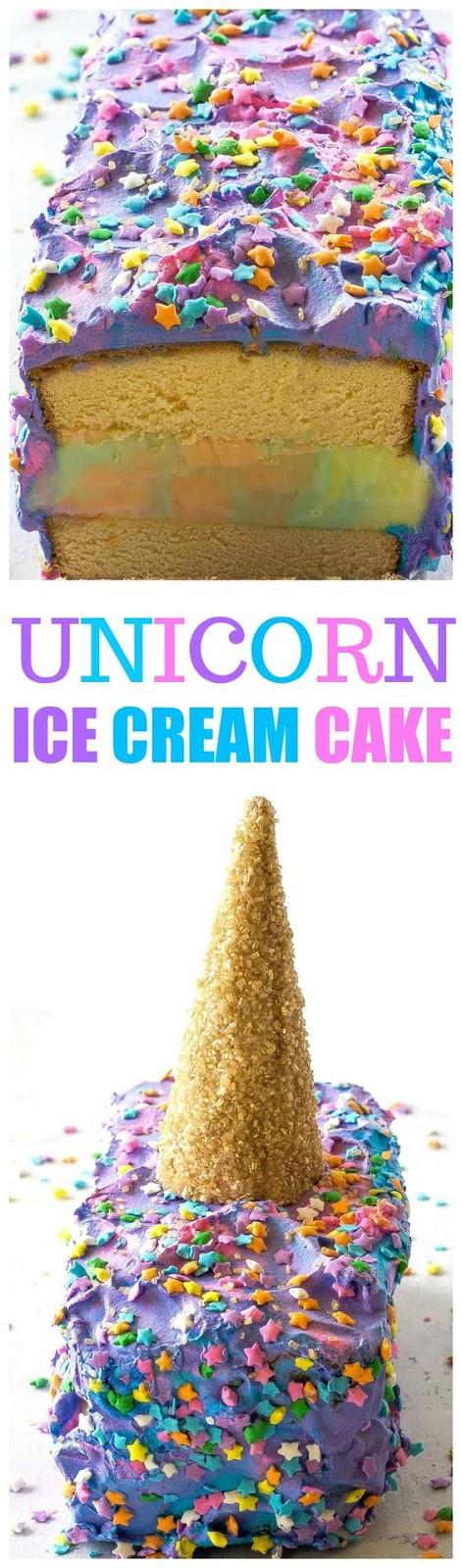 Unicorn Ice Cream Cake