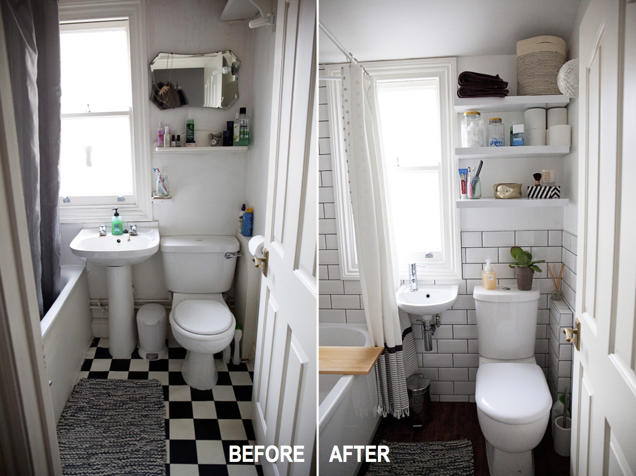 Bathroom Before And After ikea bathroom before after design a small bathroom makeover