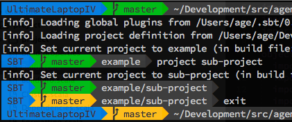 WhiteBoard Coder: sbt: customize Shell Prompt with git