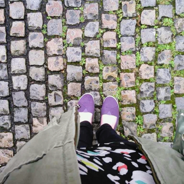 Wet cobbled streets
