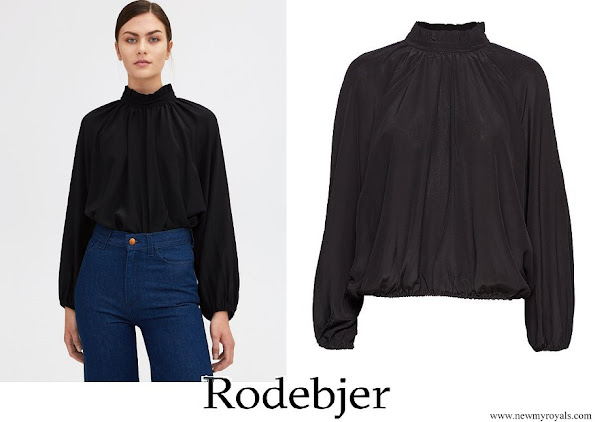 Crown Princess Victoria wore RODEBJER Groa Silk blouse