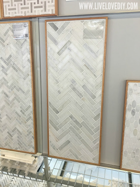 kitchen makeover marble tile backsplash