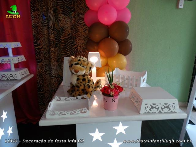 Decoração festa de aniversário tema Oncinha