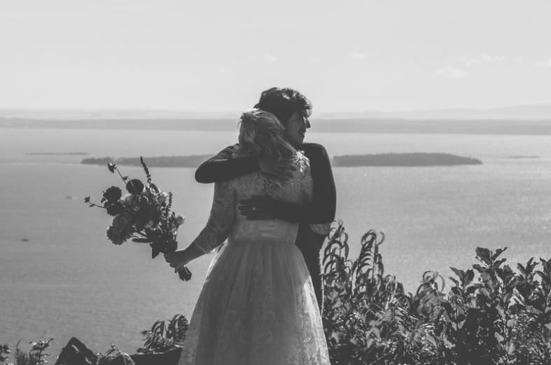 mount battie camden maine wedding