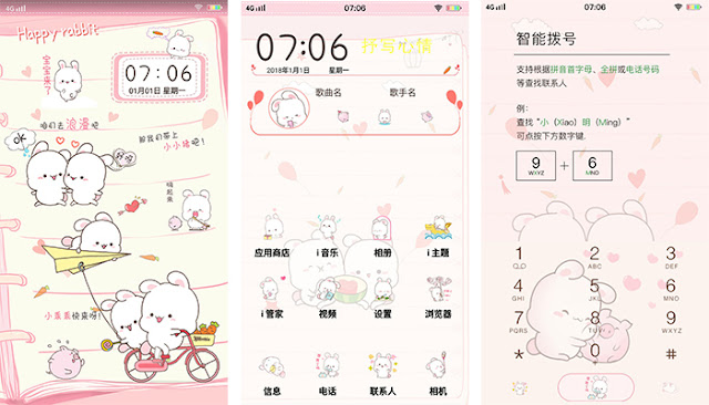 Happy Rabbit Theme For Vivo