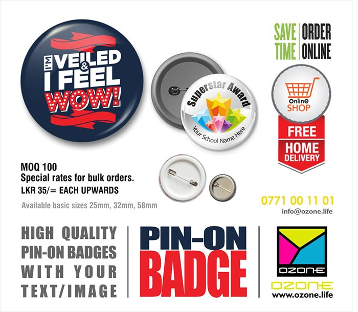 Ozone Branding | Custom Printed Pin-On Badges