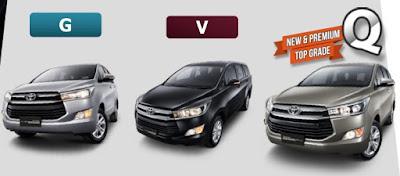 Pilihan Warna All New Kijang Innova Grand Avanza G At Toyota Arina Gresik Kupas Tuntas The Legend Hadir Dengan 3 Tipe Yakni V Dan Q Sedangkan J E Produksi Sebelumnya Discontinued Ada 6