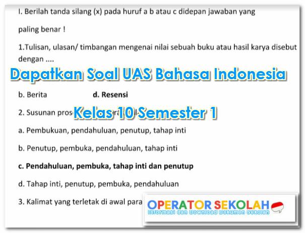 Kota surabayatoko buku gudang ilmu. Dapatkan Soal Uas Bahasa Indonesia Kelas 10 Semester 1 Operator Sekolah
