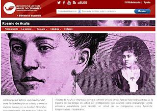 Imagen de la Biblioteca de Autor dedicada a Rosario de Acuña