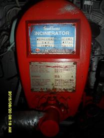 MV. Kartini Baruna Incinerator System Burner