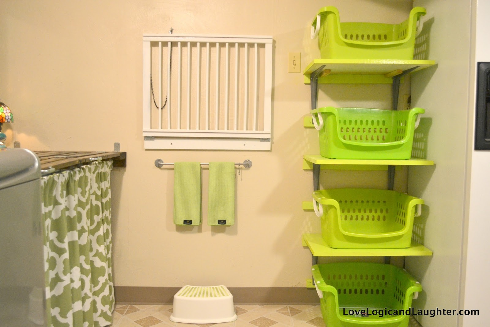 Laundry Basket With Shelves Shelves For Laundry Baskets Diy Logic And Laughter