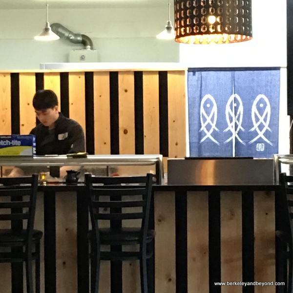 sushi bar at Uoyakutei Japanese Restaurant at Rockaway Beach in Pacifica, California