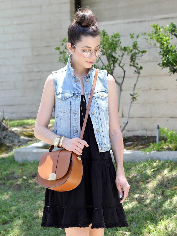 552d3f4ba9 Vest - Madewell (Similar here)   Dress - Target (Similar here)   Sandals -  INC via Macy s (Similar here)   Bag - Zara (Similar here)   Glasses - Urban  ...