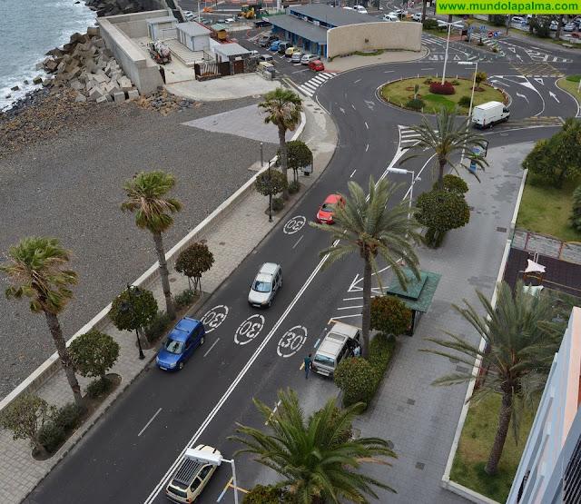 Las obras de reurbanización de la avenida Marítima obligan a reorganizar la movilidad en Santa Cruz de La Palma