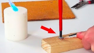 How to make a soldering iron with a candle