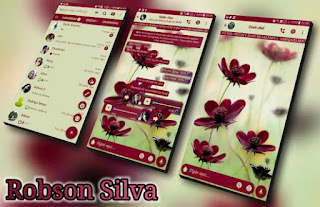 Flower V1 Theme For GBWhatsApp By Robson