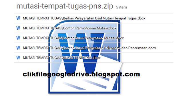 Download Berkas Mutasi Guru Pendidik dan kependidikan