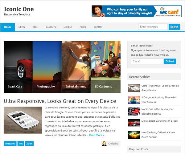 Iconic one blogger template blogger templates blogger template pronofoot35fo Image collections