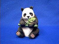 Panda Eating Bamboo Figurine