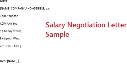 Salary Negotiation Letter Examples Tierianhenry Salary Negotiation Letter  Examples Expocarfo Choice Image