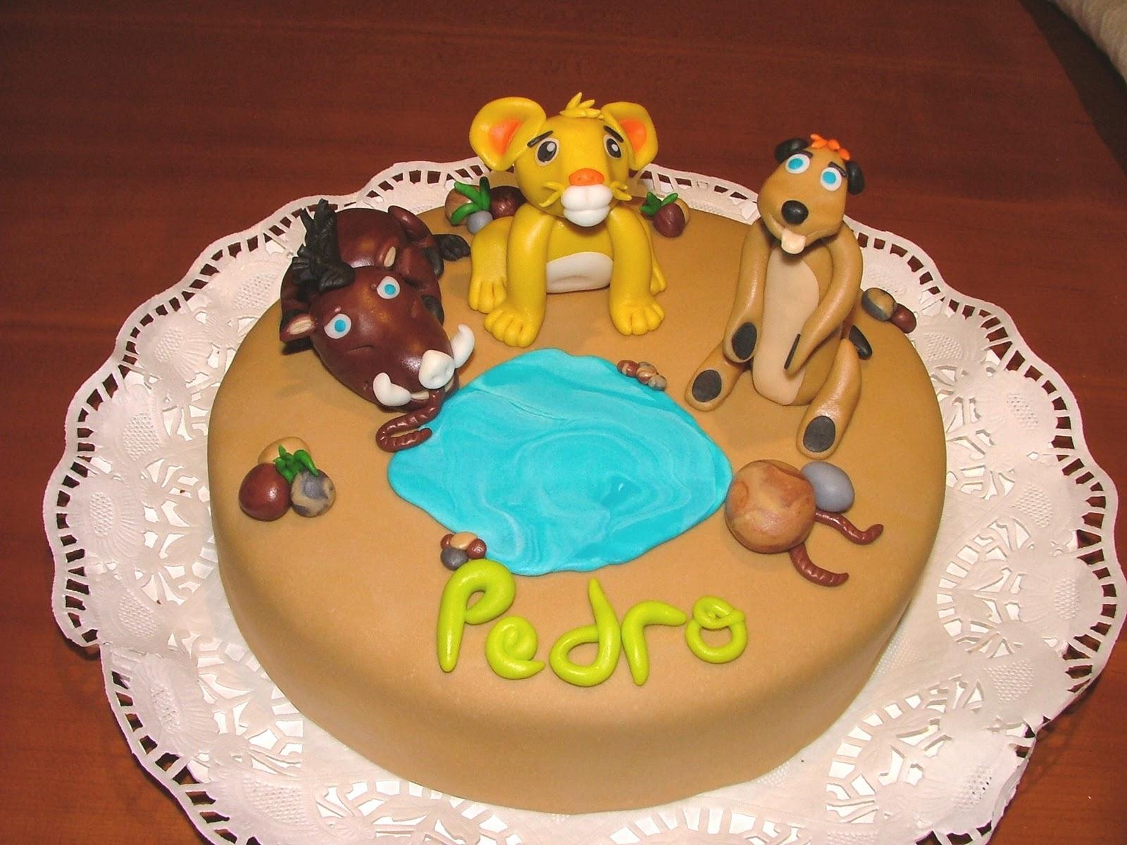 Pumba Cake: Pin Pumba Timon Simba Disney Wallpaper Cake On Pinterest