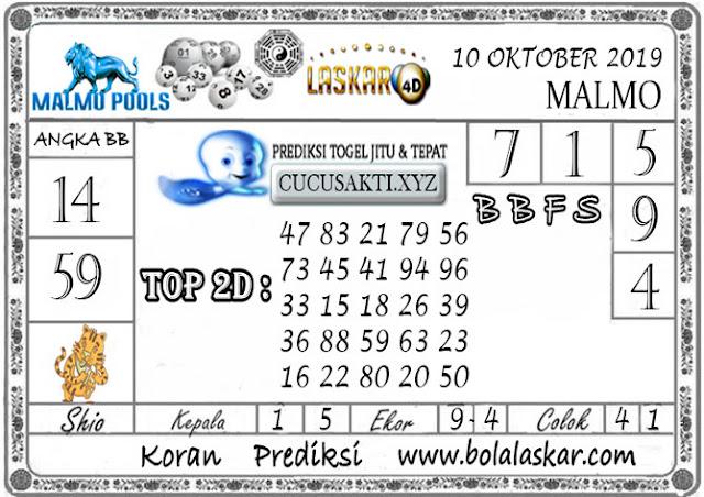 Prediksi Togel Jitu MALMO LASKAR4D 10 OKTOBER 2019