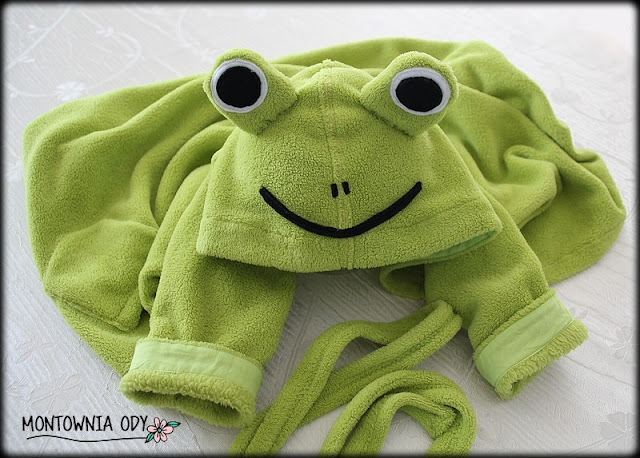 szlafrok dla dziecka polarowy żaba