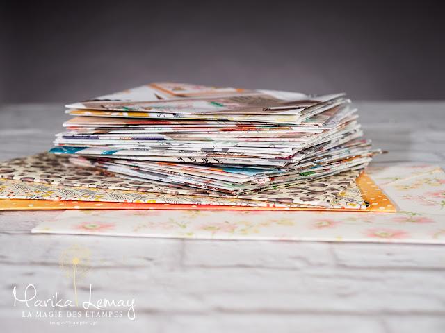 65 enveloppes en 30 minutes avec l'Insta-enveloppes Stampin' Up!