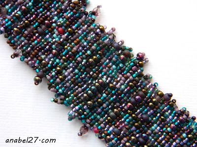 bohemian jewelry boho cuff bracelet purple
