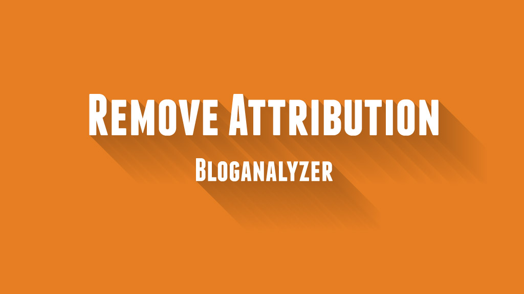 Remove Attribution Widget from Blogger