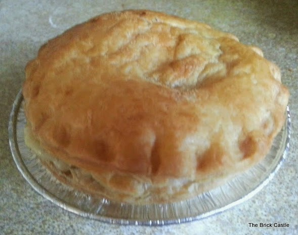 Quorn Pie ready to be eaten