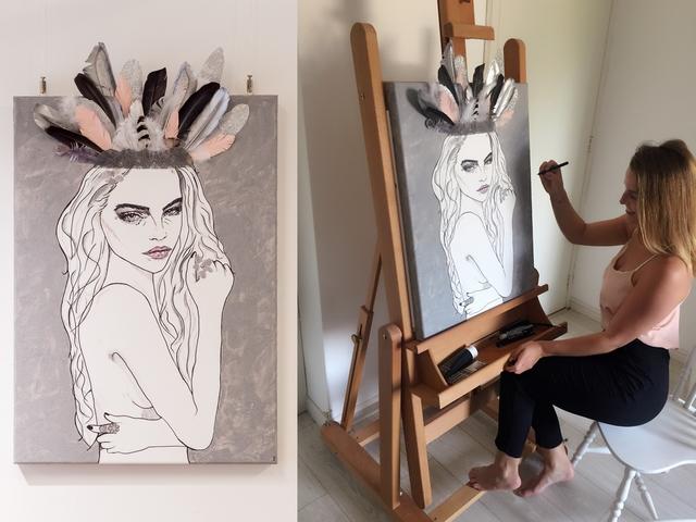 Imogen van Oordt girlboss kunst schilderijen art vrouw blog Make people stare interview kunstwerken