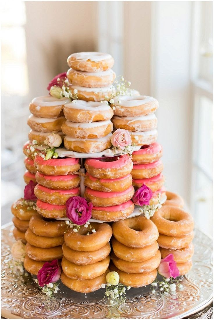Foodie Wedding Inspiration doughnut wedding cake