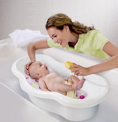 Emplear una bañera especial