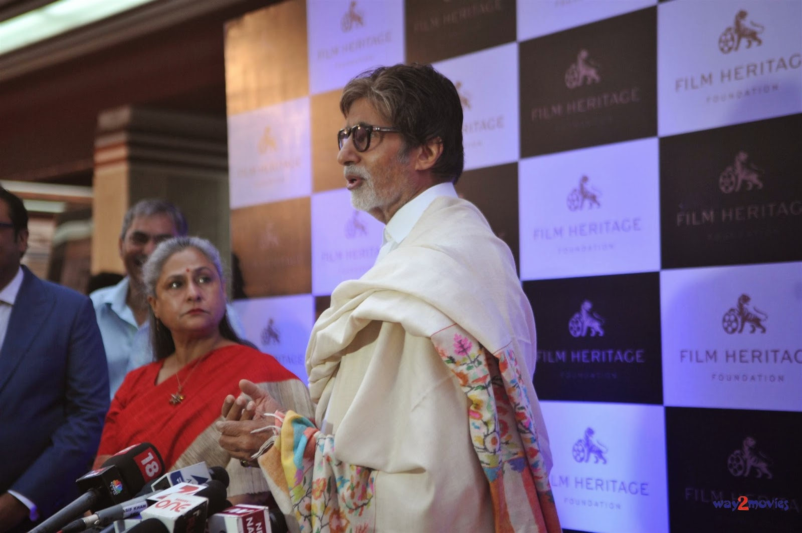 Amitabh & Jaya Bachchan at Film Heritage Foundation launch