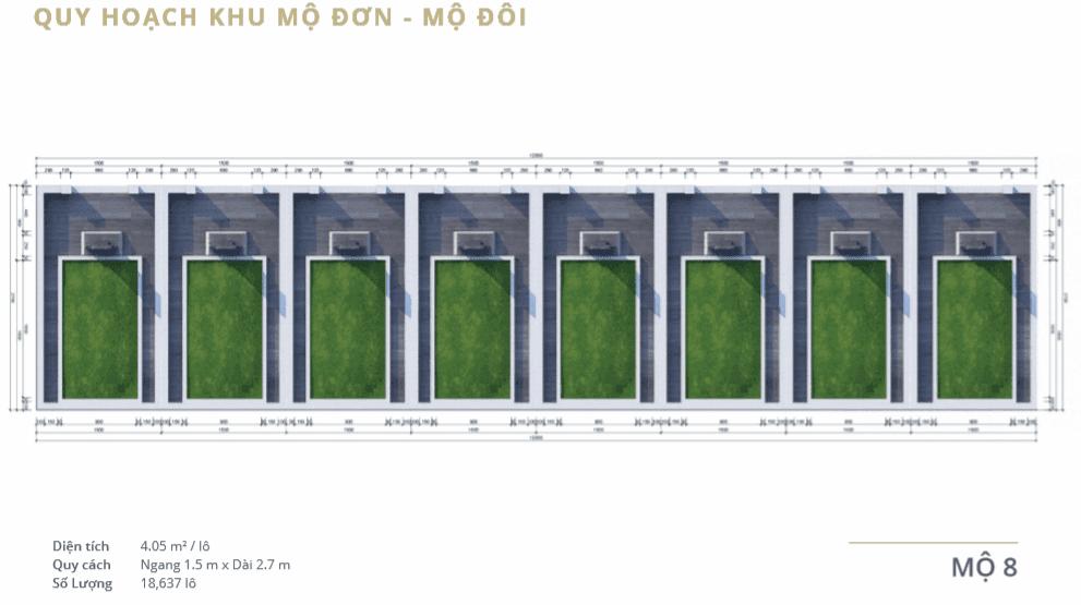 Quy hoạch mộ 8 tại dự án