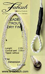Dyneema leader trout dry fine