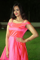 Actress Pujita Ponnada in beautiful red dress at Darshakudu music launch ~ Celebrities Galleries 095.JPG